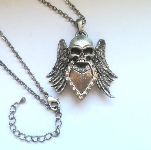 Winged Skull - Collana Teschio Alato