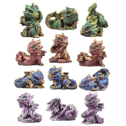 Baby Crystal Dragons - Set 12 pezzi