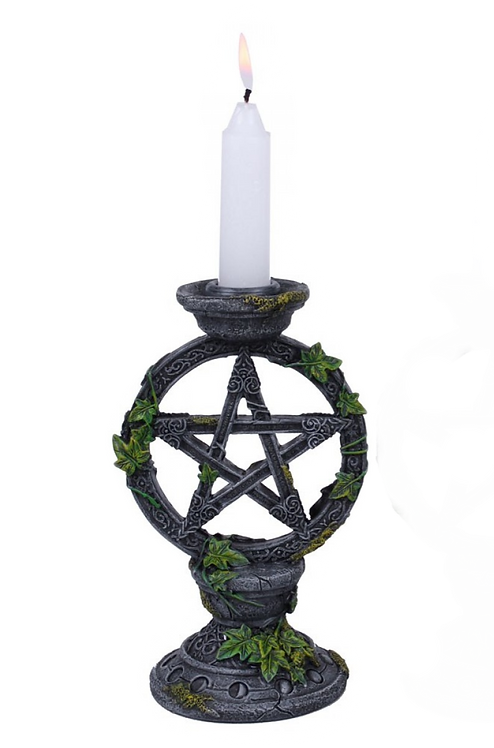 Wiccan Pentagram - Candelabro 15cm