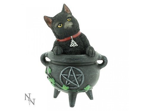 Smudge - Gatto nero nel calderone 12cm