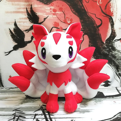Kitsune Adulta - Volpe a nove code gigante - Kawaii Plush by Nixie Creations