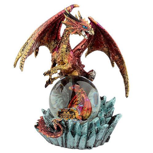 Ruby Oracle - Drago con Cucciolo nella sfera 19cm