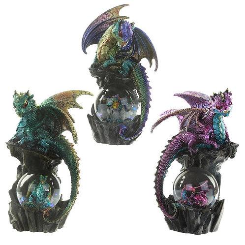 Enchanted Nightmare Dragon - Drago con sfera di cristallo 21cm
