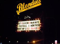 Blondies Saxon Sign