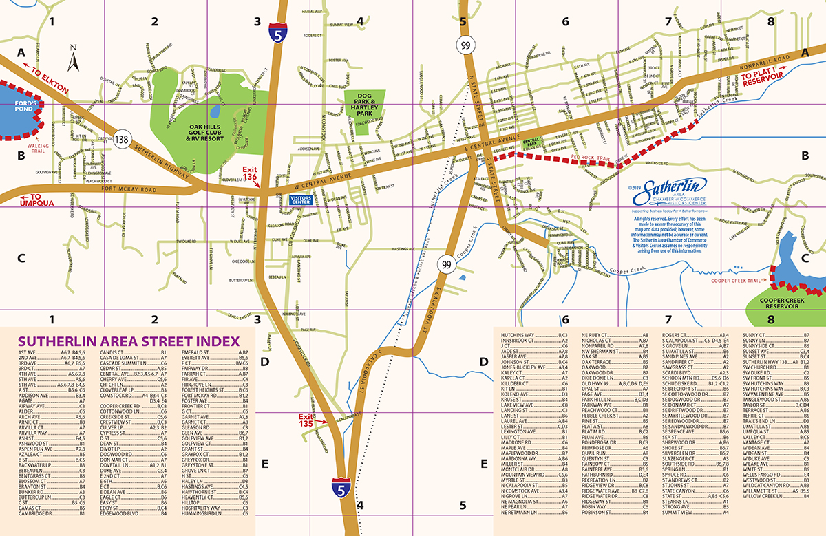 Sutherlin StreetMap