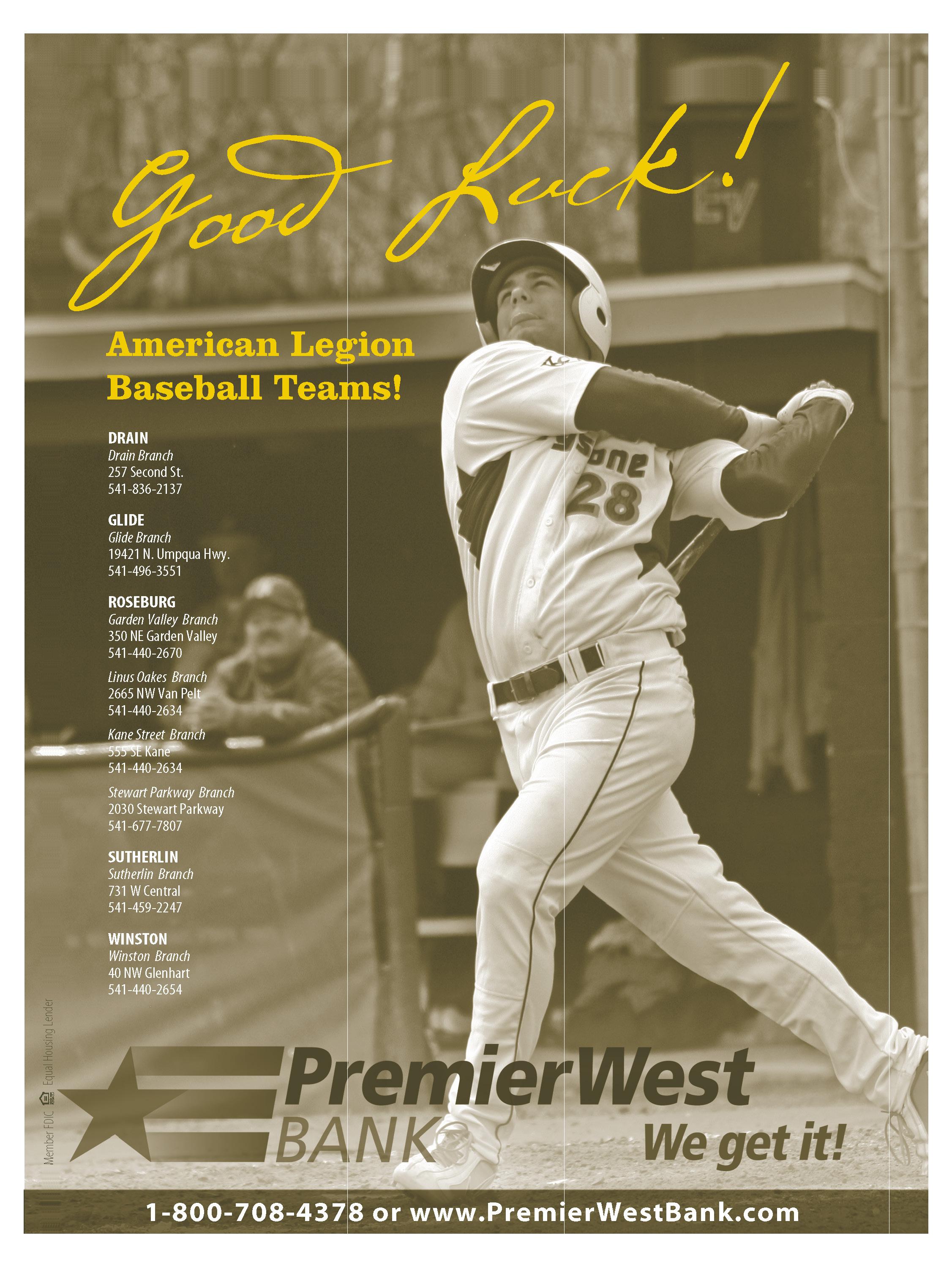 Premier West American Legion Ad