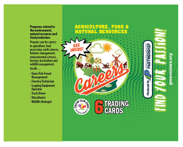 Grow Our Own Trading Card packaging