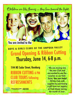 Boys & Girls Club flyer