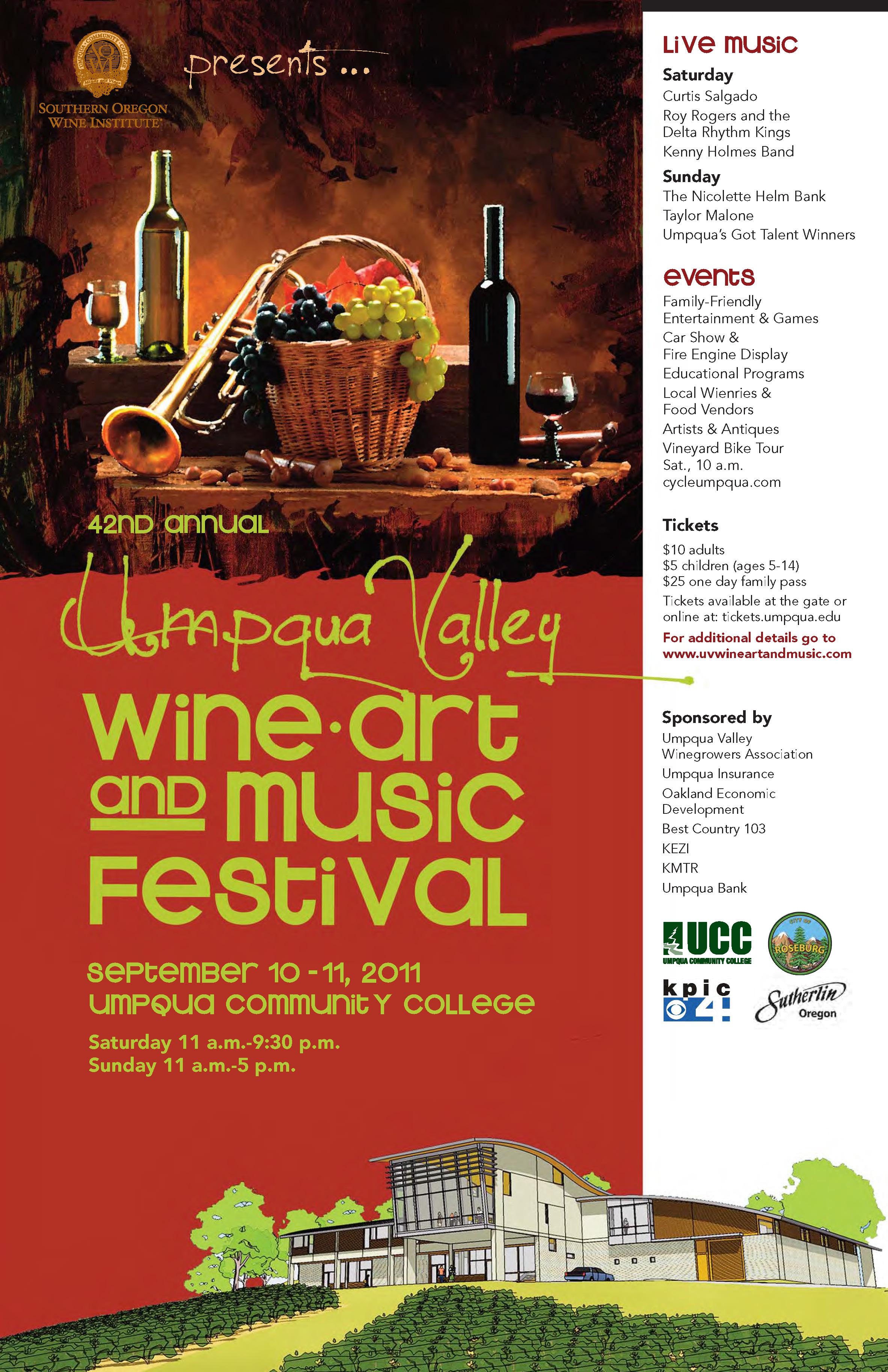 UV Wine Art Music Festival concept