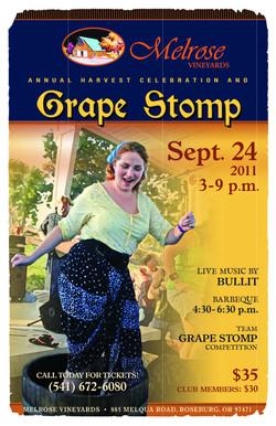 Melrose Vineyards Grape Stomp Poster