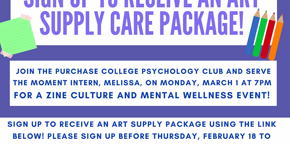 Sign Up to Receive an Art Supply Care Package!