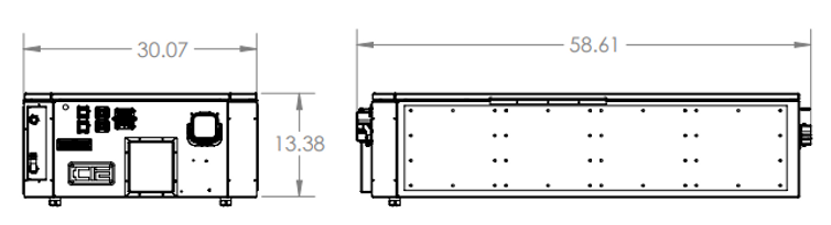 100kWh Battery Line Drawing with Dimensi