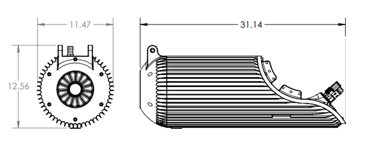 Lithium Motorcycle Battery Line Drawing