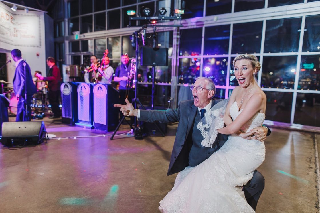 Father Daughter Dance at Wedding Baltimore Museum of Industry