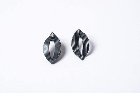 Oxidised Silver Twist Studs