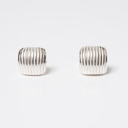 Small Square Domed Earrings