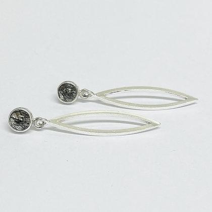 Long Rutile Quartz Earrings