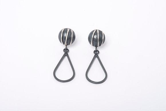 Oxidised Contrast Teardrop Earrings