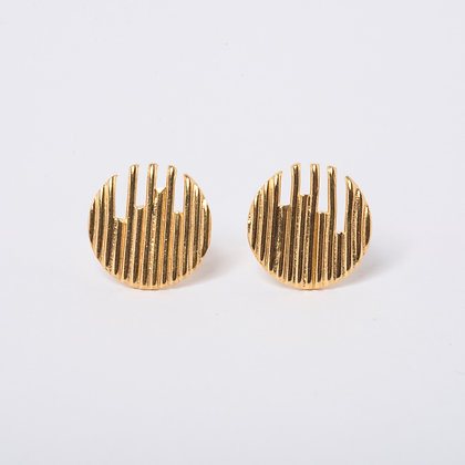 Gold Vermeil Identity Earrings