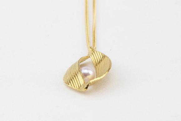 Gold Vermeil Twist Pendant