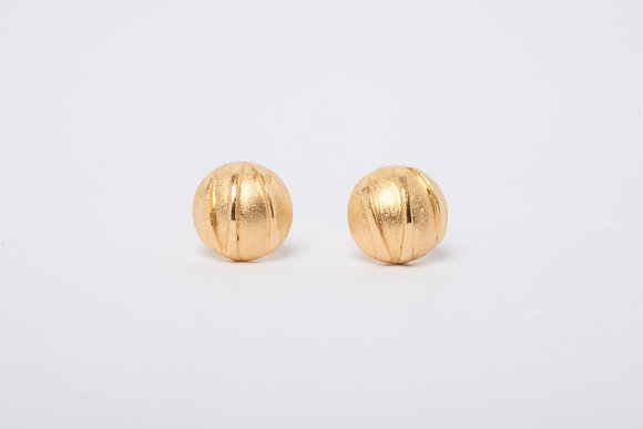 Gold Vermeil Contrast Stud Earrings