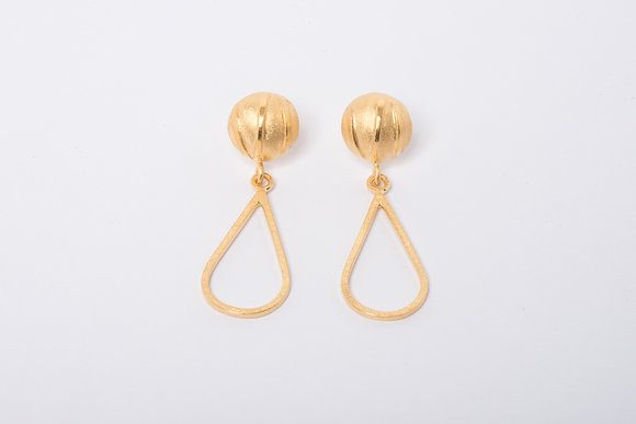 Gold Vermeil Contrast Teardrop Earrings