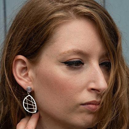 Silver Lunar Earrings
