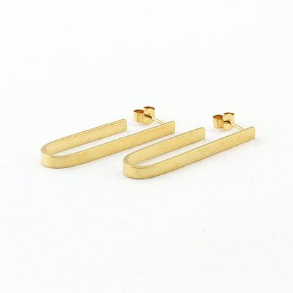 Gold Vermeil Simple Lozenge Earrings