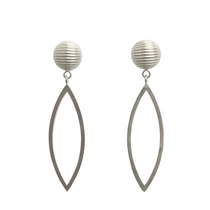 Domed Marquise Earrings