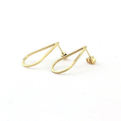 Gold Vermeil Teardrop Stud Earrings