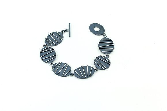 Oxidised Contrast Bracelet
