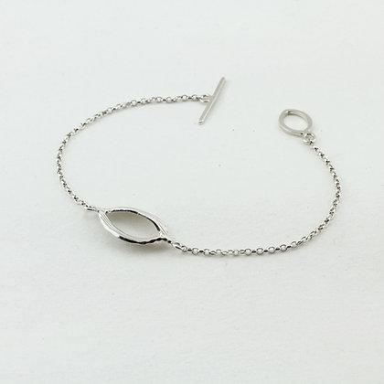 Simple Silver Twist Bracelet