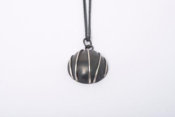 Small Oxidised Contrast Pendant