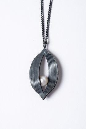 Oxidised Silver Twist Pendant