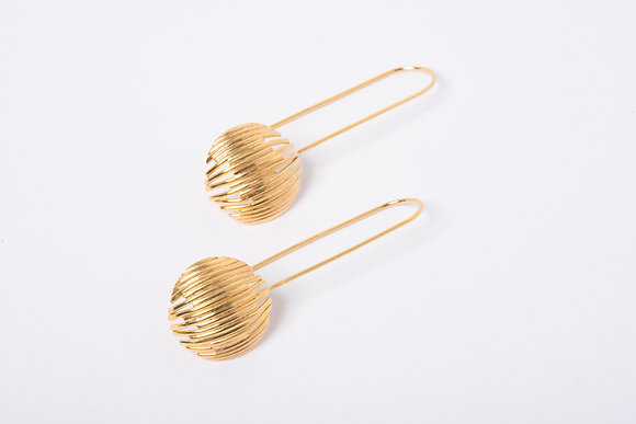 Gold Vermeil Identity long Earrings