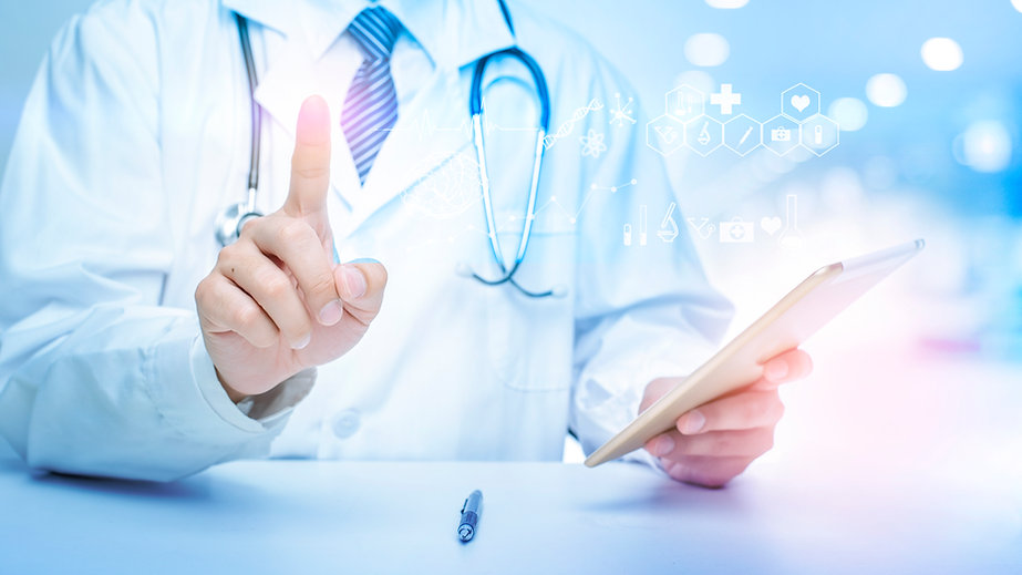 close-up-of-doctor-is-showing-medical-an