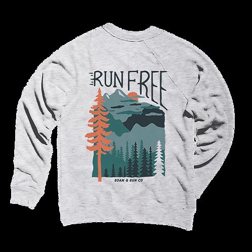 Run Free Crewneck - Ash