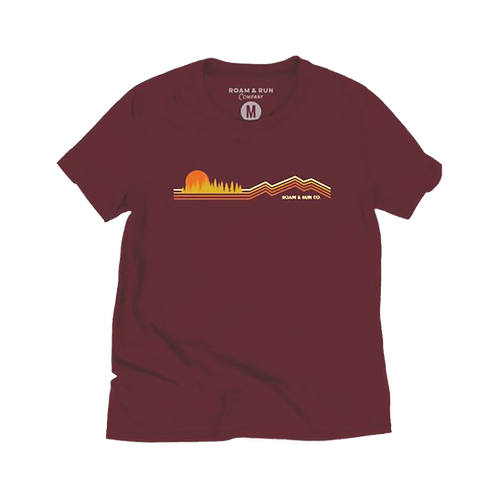 Women's Run for the Hills 2.0 Tee - Maroon