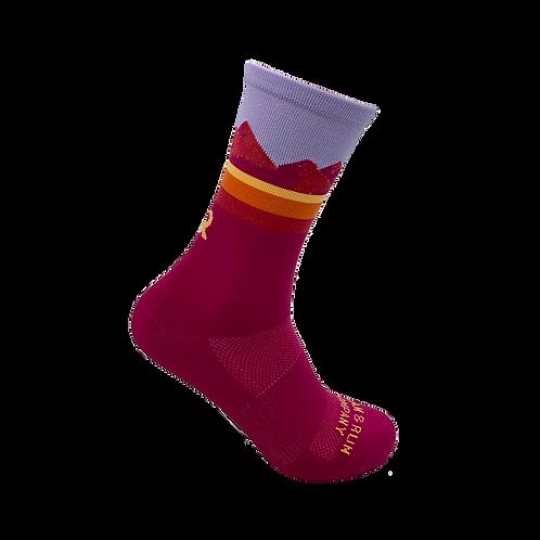 Pine Ridge Technical Running Sock - Pink