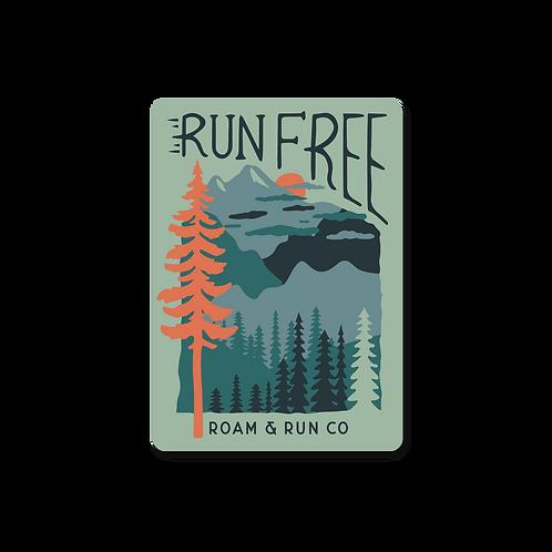 Run Free Sticker