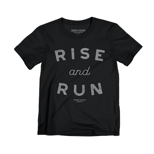 "Women's ""Rise and Run"" Tee - Black TriBlend"