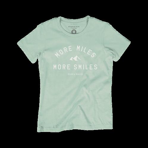 Women's More Miles More Smiles - Mint