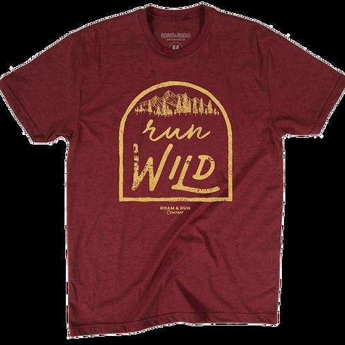 Men's Run Wild Tee - Cardinal