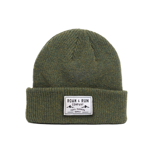Merino Wool Beanie - Forest Green