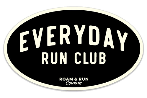 EveryDay Run Club Black Sticker