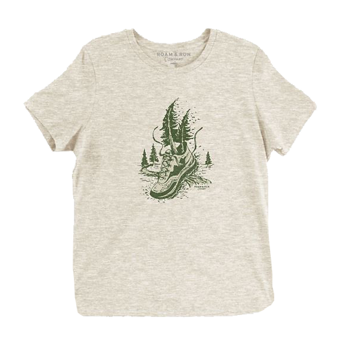 Women's Run with Nature Tee - Natural