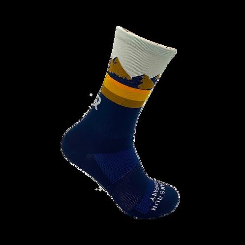 Pine Ridge Technical Running Sock - Navy