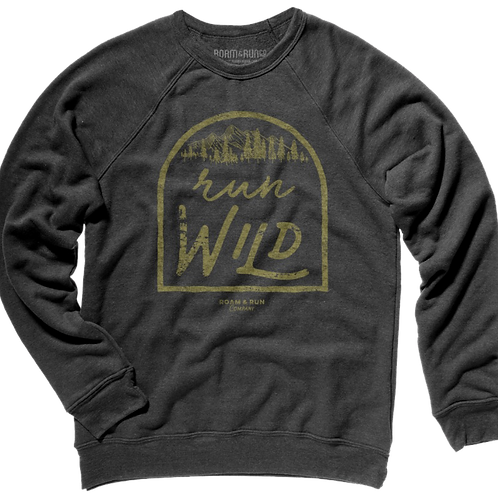 Run Wild Crew Sweatshirt - Charcoal