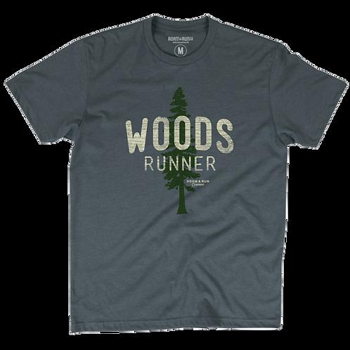 Men's Woods Runner Tee - Asphalt