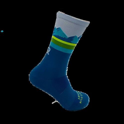 Pine Ridge Technical Running Sock - Teal